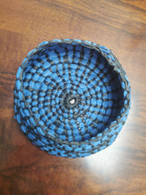 Load image into Gallery viewer, Coil Basket - Blue & Black Paper Raffia