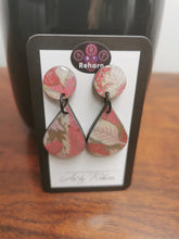 Load image into Gallery viewer, DD Earrings - Pink floral pattern