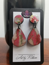 Load image into Gallery viewer, DD Earrings - Pink floral pattern 2