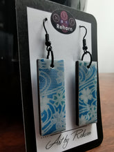 Load image into Gallery viewer, SD Earrings - Light Blue & White pattern