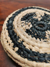 Load image into Gallery viewer, Coil Basket - Natural & Black Raffia