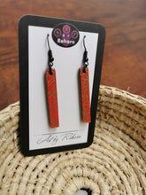 Load image into Gallery viewer, SD Earrings - Ruby Red & Gold pattern