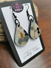 Load image into Gallery viewer, SD Earrings - Grey Blossom Chiyogami pattern