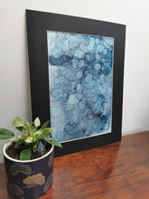 Load image into Gallery viewer, Original Ink Artwork - Dusky Blue Droplets