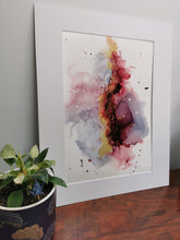 Load image into Gallery viewer, Original Ink Artwork - Red, Gold & Grey