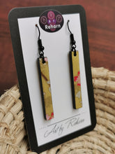 Load image into Gallery viewer, SD Earrings - Yellow/Gold Cherry Blossom pattern