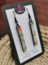 Load image into Gallery viewer, SD Earrings -  Light Blue Cherry Blossom pattern