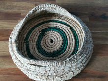 Load image into Gallery viewer, Coil Basket - Natural & Green Paper Raffia