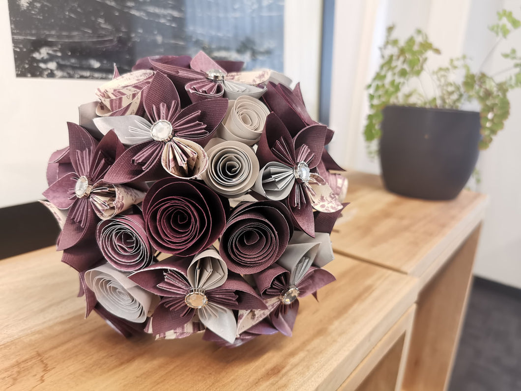Custom Bridal Bouquet - Round (30 Flowers)