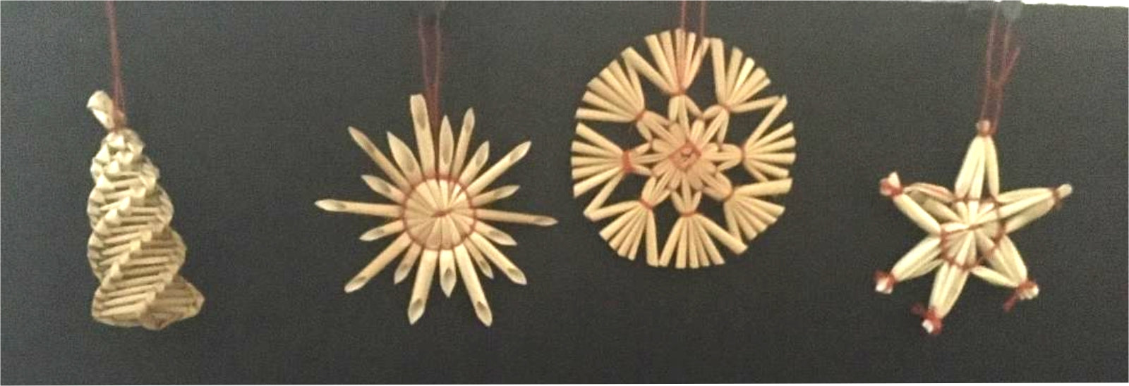packet of straw ornaments