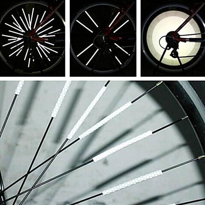 Bicycle Wheel Spoke Reflector(12 pcs)– Fits All Standard Spoked Wheels