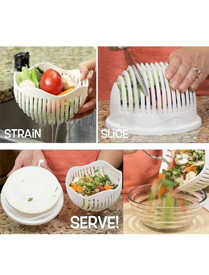55% OFF TODAY - Perfect Salad/Fruit Cutter -A MUST HAVE For Any Kitchen