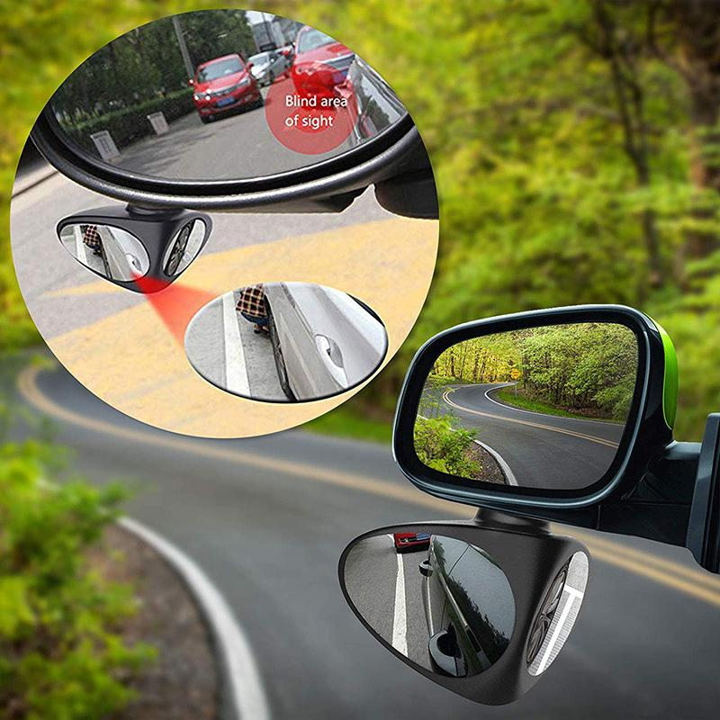 Hot Selling 360 Degree Rotatable Adjustable Broaden View Car Blind Spot Mirror