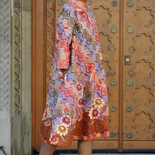 Load image into Gallery viewer, Hokokai Batik A-line Dress with High-neck