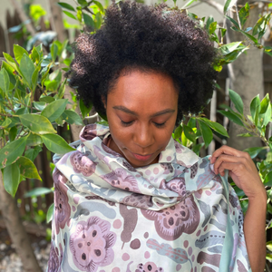 MIWA Whimsical Patterned Scarfs