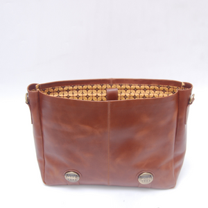 Adisher Leather Messenger Bag