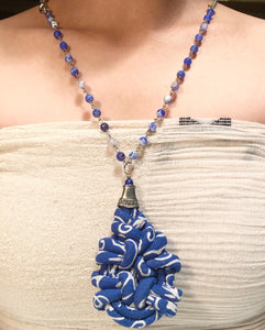 Arra Batik and Beads Necklace