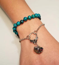 Load image into Gallery viewer, Arra Beads and Stone Bracelet