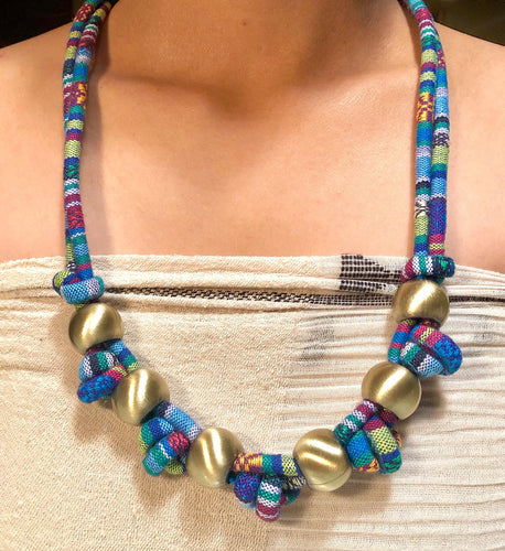 Arra Upcycled Ikat Combination Necklace