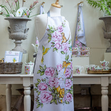 Load image into Gallery viewer, Floral apron vintage kitchenware Emmas Kitchen Longleat