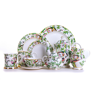 Chinese Wallpaper Collection tea set Emmas Kitchen Longleat