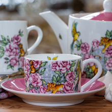Load image into Gallery viewer, Fine bone china cup and saucer set floral Emmas Kitchen Longleat