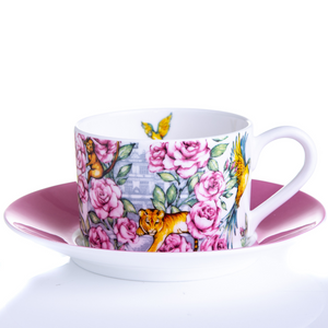 Fine bone china cup and saucer set floral Emmas Kitchen Longleat