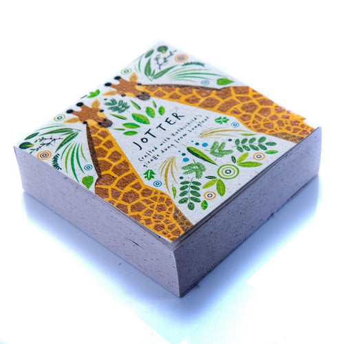 Square Jotter Block Giraffe Poo Paper Collection Longleat shop