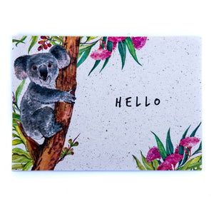 Floral A6 Postcard Koala Poo Paper Collection Longleat shop