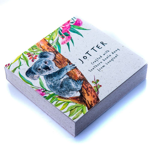 Floral Square Jotter Block Koala Poo Paper Collection Longleat Shop
