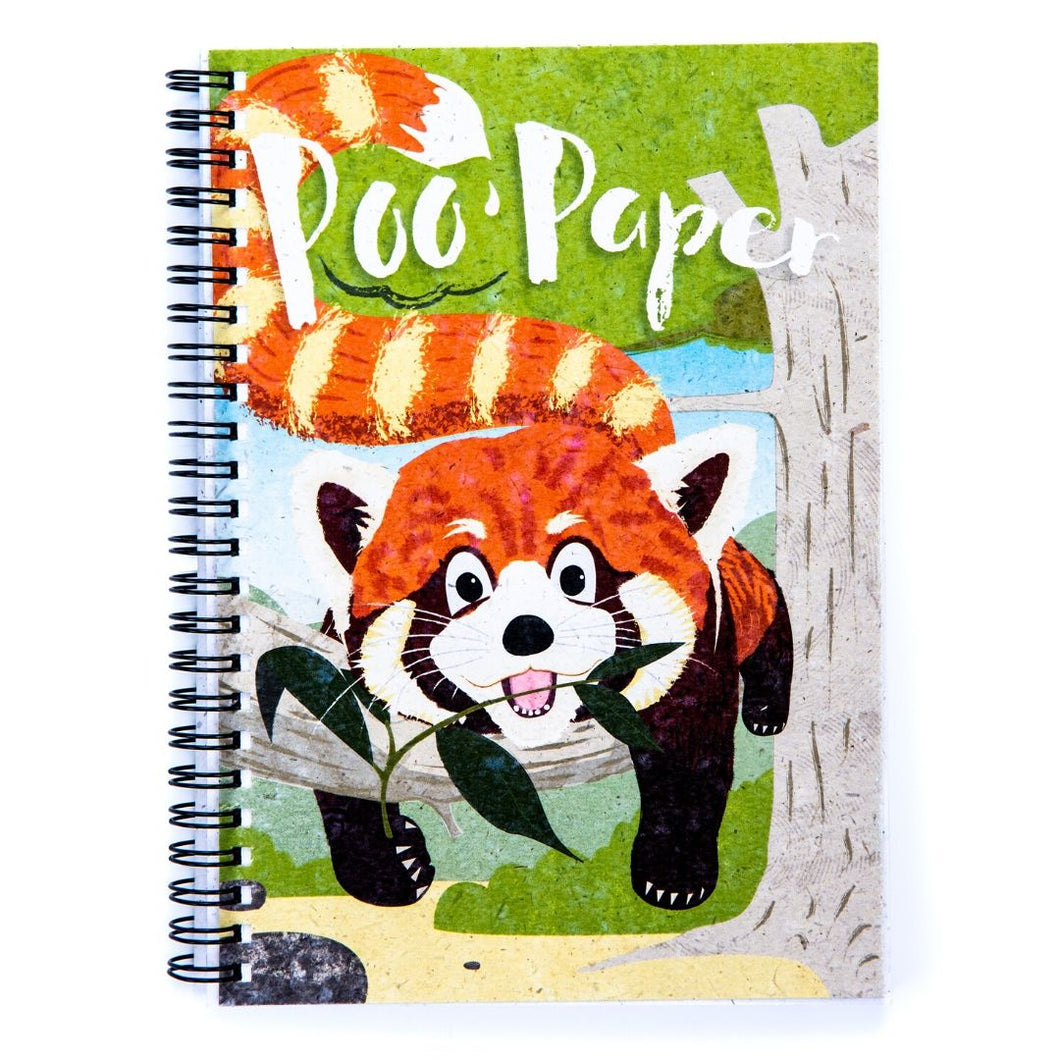 Kids A5 Wiro Bound Book Red Panda Poo Paper Collection longleat shop