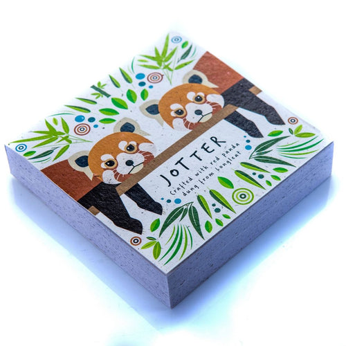 Square Jotter Block Red Panda Poo Paper Collection longleat shop