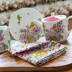 Floral Tea towel vintage kitchenware Emmas Kitchen Longleat