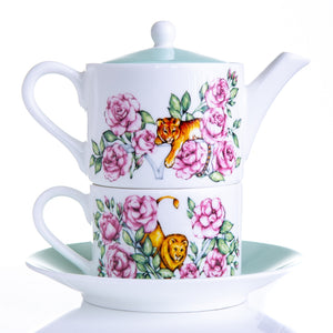 Teapot tea for one gift set fine bone china Emmas Kitchen Longleat