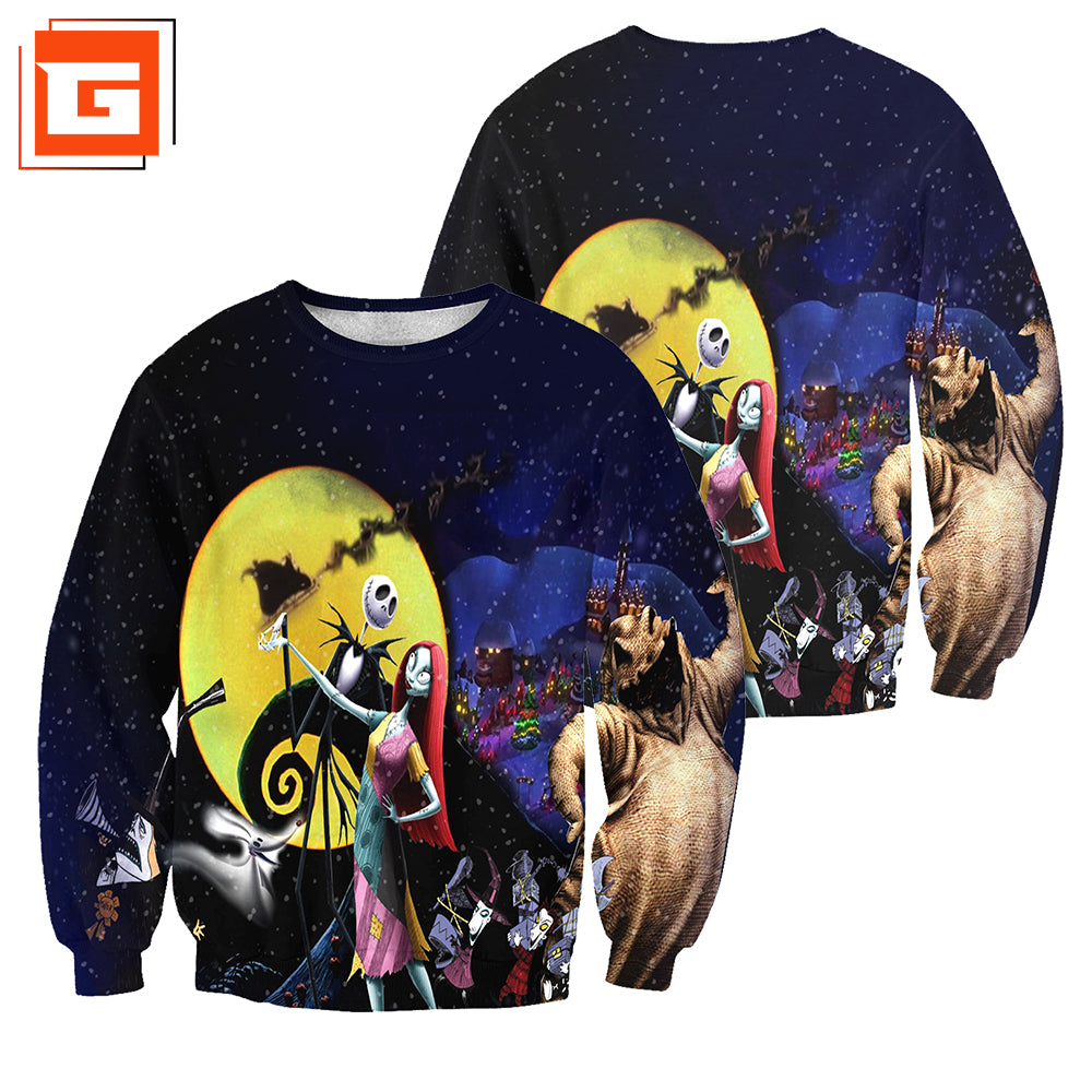 3D All Over Printed Nightmare Before Christmas Clothes 01