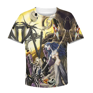 Beautiful 3D All Over Printed The Nightmare Before Christmas Clothes For Kids 03