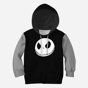 Beautiful 3D All Over Printed The Nightmare Before Christmas Clothes For Kids - Jack Face