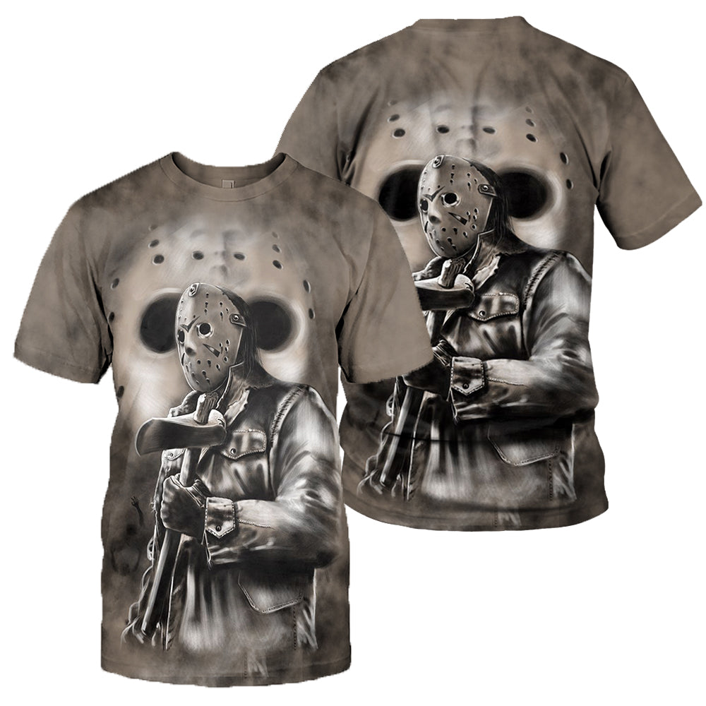 3D All Over Printed Jason Voorhees Friday The 13th Clothes
