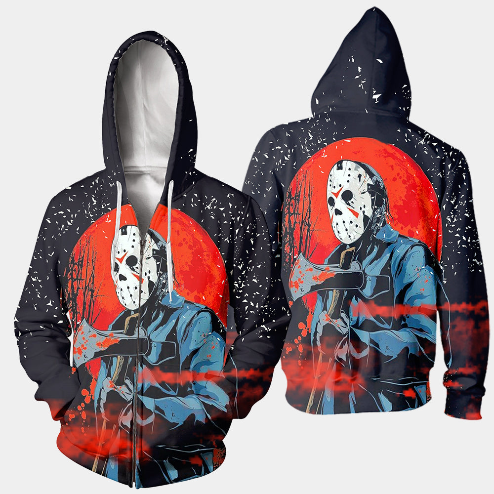 3D All Over Printed Jason Voorhees Friday The 13th Clothes 03