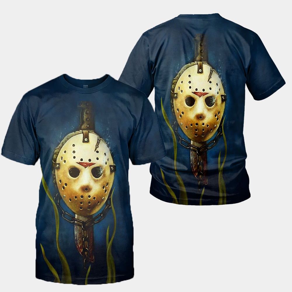 3D All Over Printed Jason Voorhees Friday The 13th Clothes 06