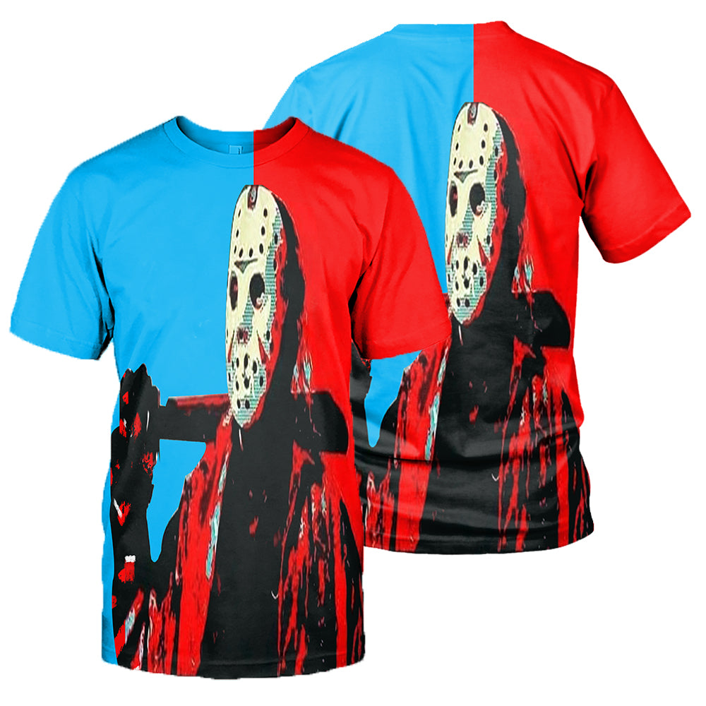 3D All Over Printed Jason Voorhees Friday The 13th Clothes 08