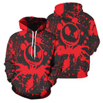 Load image into Gallery viewer, Jack Skellington 3D Print Painted Hoodies - Red & Purple (LIMITED EDITION)