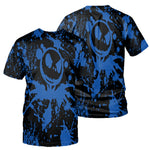 Load image into Gallery viewer, Jack Skellington 3D Print Painted Hoodies - Blue (LIMITED EDITION)