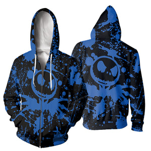 Jack Skellington 3D Print Painted Hoodies - Blue (LIMITED EDITION)