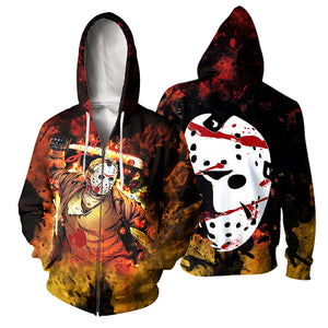 3D All Over Printed Jason Voorhees Clothes 05