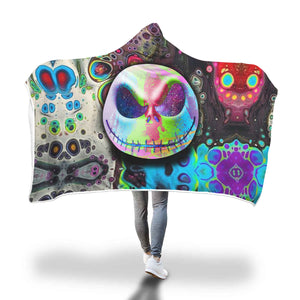 Color Jack Skellington  Hooded Blanket