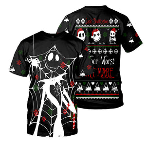 Jack Skellington 3D All Over Printed Shirts For Men And Women 212