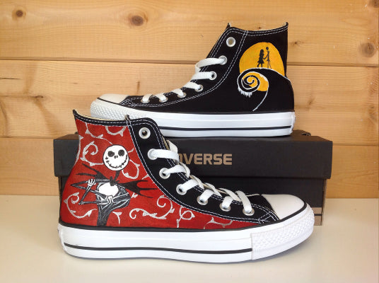 The Nightmare Before Christmas Hand Painted High Top Sneakers 01