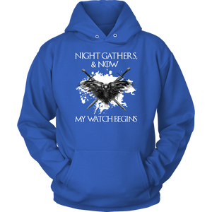 """Night gathers and now my watch begins"" Game Of Thrones T-shirt/Hoodie"