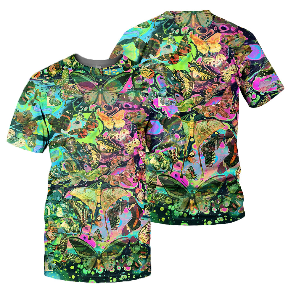 Butterfly 3D All Over Printed Shirts For Men And Women